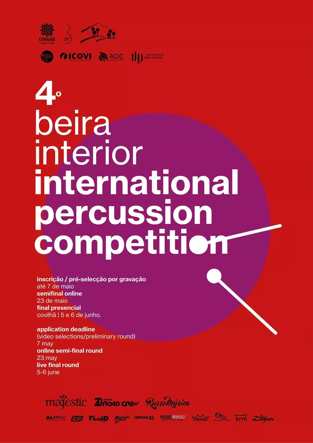 4º Concurso Internacional de Percussão da Beira Interior